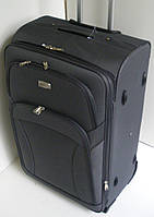 Чемодан дорожный на колесах тканевый малый серый двухколесный 45х37х20 см