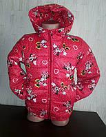Куртка на девочку  осенняя Минни с сердечками, фото 1