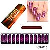 Фиолетовый узор для ногтей