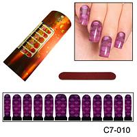Фиолетовый узор для ногтей, фото 1