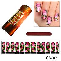 Цветочный дизайн ногтей из РОЗ, фото 1