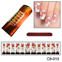 Красивые ногти с цветочным дизайном