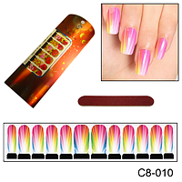 Наклейка на ногти все цвета радуги
