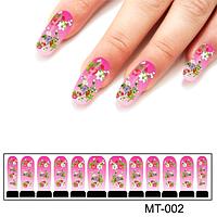 Фото дизайн для ногтей Утренние цветы