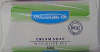 Туалетное мыло Cream Soap, WITH OLIVE oil 100g