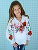 """Ексклюзивная вышиванка для девочки """"Бабушкина сказка"""" на рост 116-170 см"""