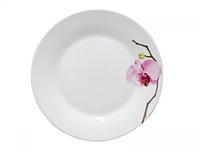 Тарелка 19 см Розовая орхидея.