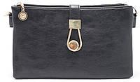 Аккуратная женская черная сумка барсетка Б/Н art. 8214 черная