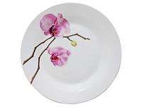Тарелка 23 см Розовая орхидея.