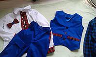 Костюм для мальчика брюки+жилет, рубашка на возраст от 3 до 15 лет.