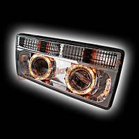Передняя оптика для ВАЗ 2105 ангельские глазки (моноблок, хром) RS05-03822