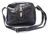 Оригинальная компактная женская сумочка Б/Н art. 601 черного цвета