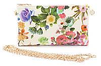 Оригинальная сумка-клатч с цветочным принтом из лакированной эко кожи Б/Н art. 2014