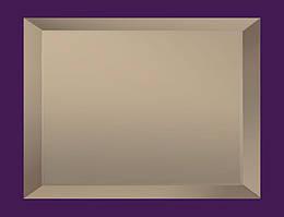Плитка зеркальная с фацетом 15мм ПФБ 200*300 (бронза) Украина UMT