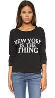 Женский свитшот New York кофта женская Нью Йорк