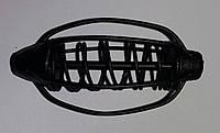 Годівниця Кавун 50г 6см фарбована, колір чорний (упак 10шт)