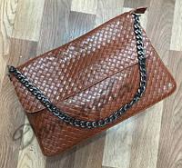 Кожаная сумка Bottega рыжая