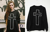 Женский свитшот с крестом кофта женская с крестом