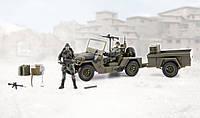 Военный базовый транспортный блок  с 2мя фигурками