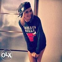 Женский свитшот Chicago Bulls кофта женская Чикаго Буллс