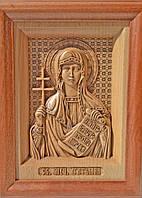Икона деревянная резная Святой Мученицы Татьяны (Татианы)
