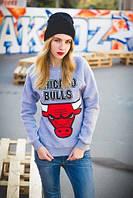 Женский свитшот кофта женская Chicago Bulls