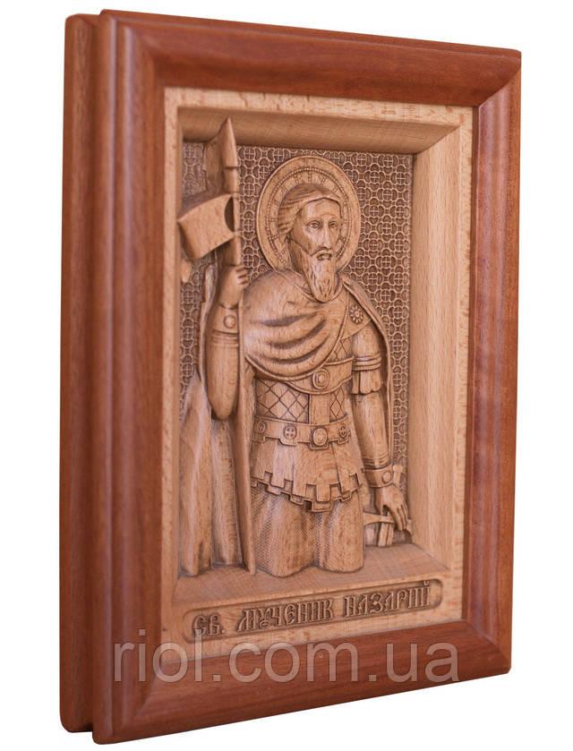 икона деревянная резная назарий