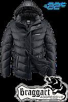 Куртка подростковая зимняя Braggart Aggressive - 5444B графит