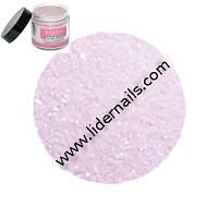Акриловая пудра с блестками розовая EzFlow