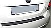 Накладка на бампер с загибом  Chevrolet Aveo II 4D 2006- карбон