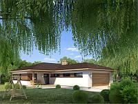 MS-002 Проект одноэтажного дома с гаражом