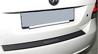 Накладка на бампер с загибом Mitsubishi Lancer X 4D 2007- карбон