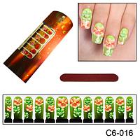 Оригинальный дизайн ногтей из цветов