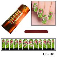 Наклейка на ногти с уникальным дизайном