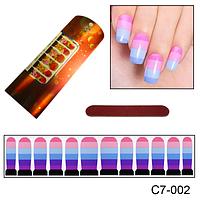 Четырехцветный дизайн для ногтей