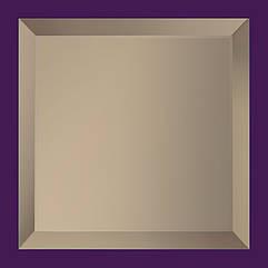 Плитка зеркальная с фацетом 15мм ПФБ 300*300 (бронза) Украина UMT