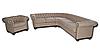 """Кожаный диван с креслом """"Граф САН-РЕМО"""" (3р+1), фото 4"""