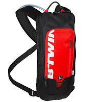 Велорюкзак с гидратором, рюкзак велосипедний Btwin 300 красный
