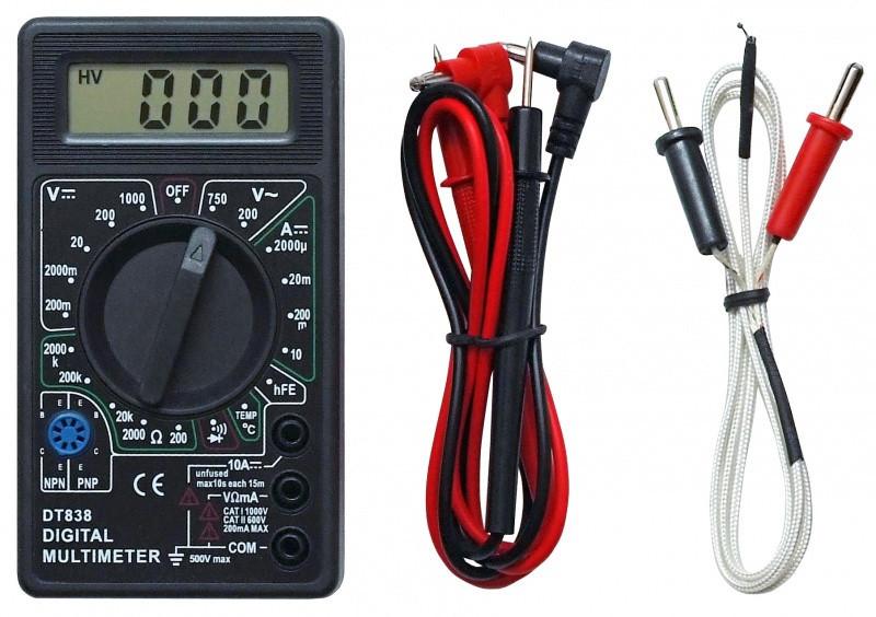 Многофункциональный цифровой мультиметр DT-838, цифровой мультиметр dt, тестер dt 838 digital multimeter - MegaSmart в Днепре