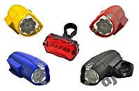 Комплект фара задняя + мигалка для велосипеда KK-860, набор велосипедных фонарей, светодиодный велофонарик