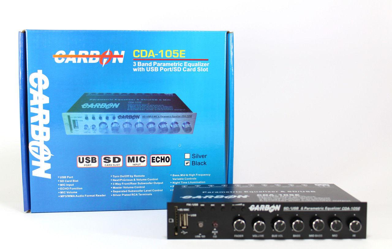 Семи полосный Эквалайзер AMP Carbon CDA-105E