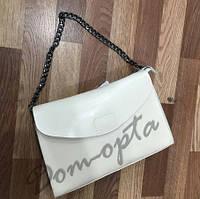 Женская кожаная сумка middle белая