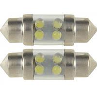 Светодиодная лампа 2847 SV8.5 10x31 4xLED WHITE (белая) 2 шт. BOSMA