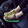 Кроссовки светящиеся золотые