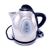 Электрический чайник KM081, электрочайник из нержавеющей стали, компактный электрочайник для дома 1л