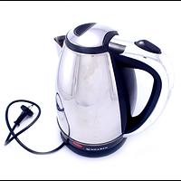 Чайник электрический Soarin SR-198, компактный электрочайник, чайник из нержавеющей стали