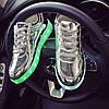 Кроссовки светящиеся серебро