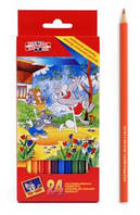 Koh-i-Noor Набор детских цветных карандашей 24 цвета (Том и Джерри)