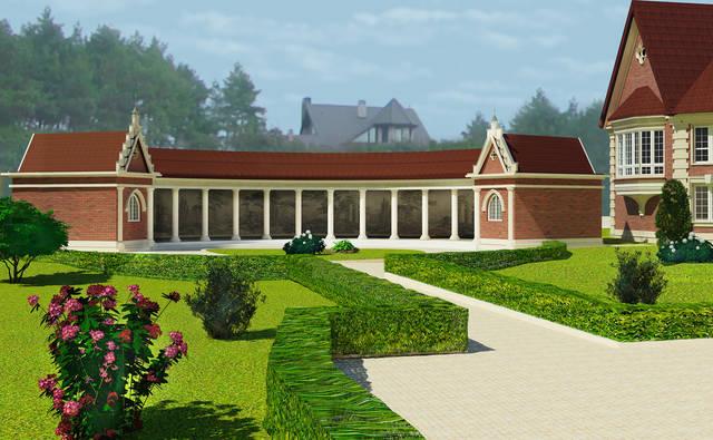 Реконструкция загородного особняка в селе Ковалева, Киевской области. Элемент парковой архитектуры