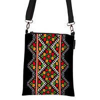 Женская сумка с печатным узором под вышивку